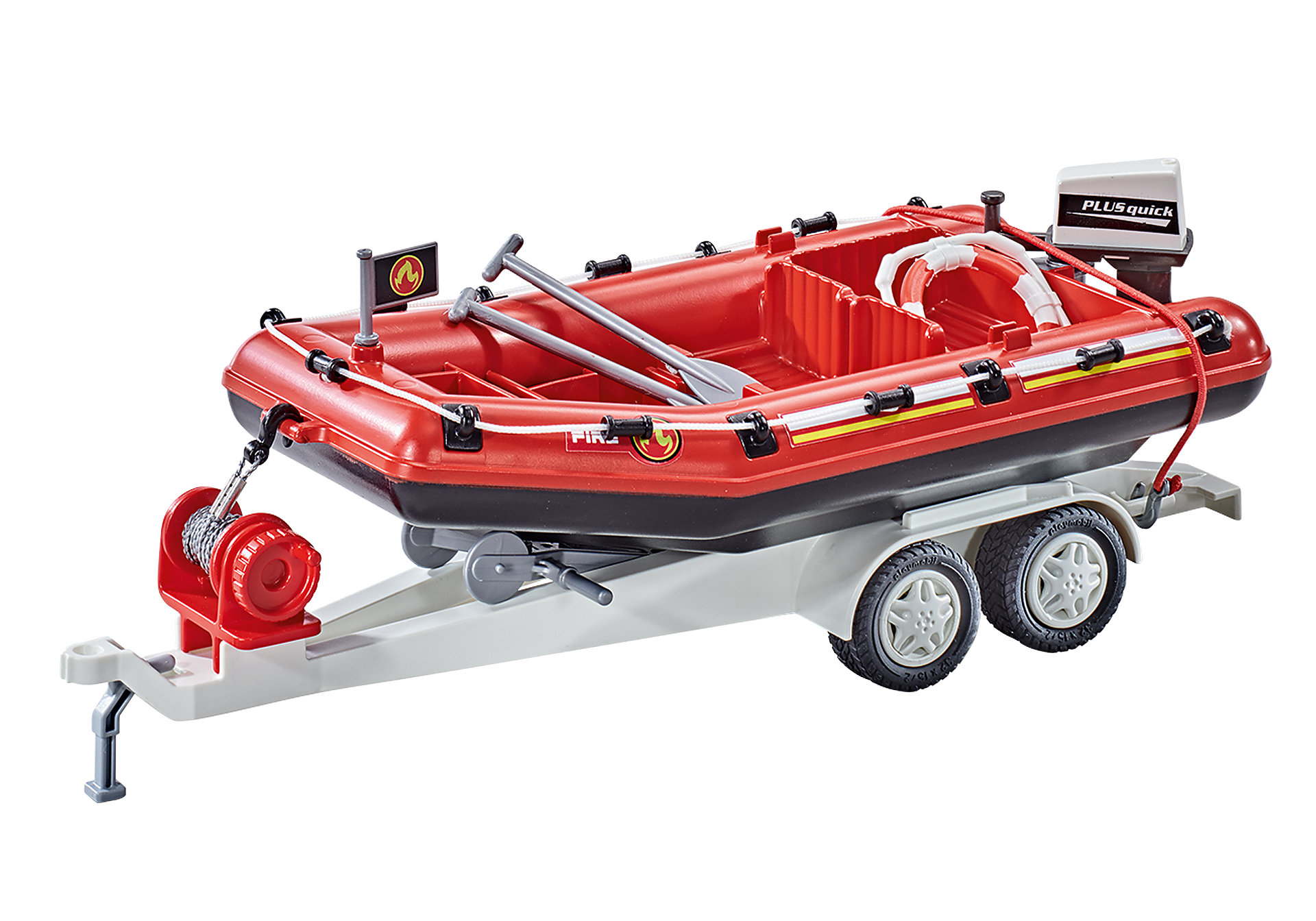 9845 Firefighting Inflatable Boat with Trailer zoom image1