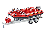 9845 Firefighting Inflatable Boat with Trailer