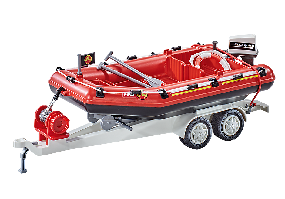 9845 Firefighting Inflatable Boat with Trailer detail image 1