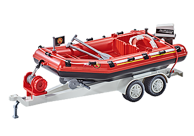 9845 Ponton ratownczy straży pożarnej