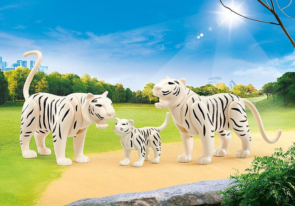 9872 2 weiße Tiger mit Baby detail image 1