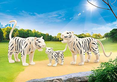 9872 2 weiße Tiger mit Baby