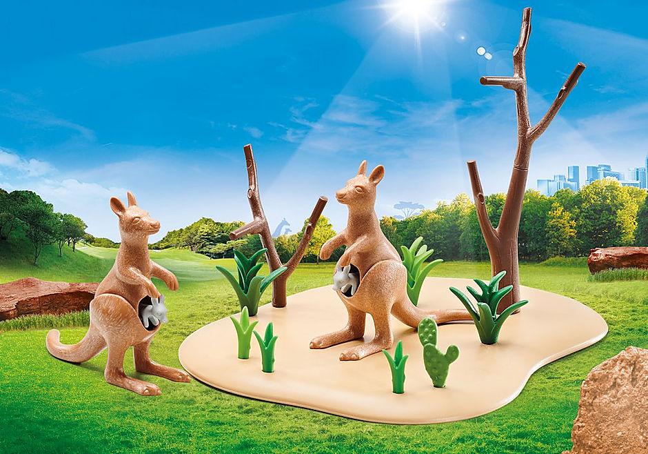 9873 Kangaroos with Joeys detail image 1