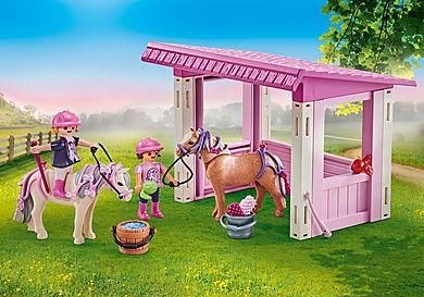 9878 Unterstand mit Ponys und Prinzessinnen