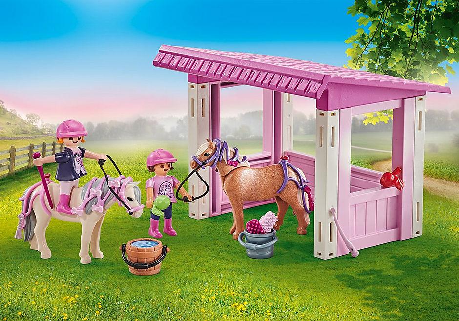 9878 Unterstand mit Ponys und Prinzessinnen detail image 1
