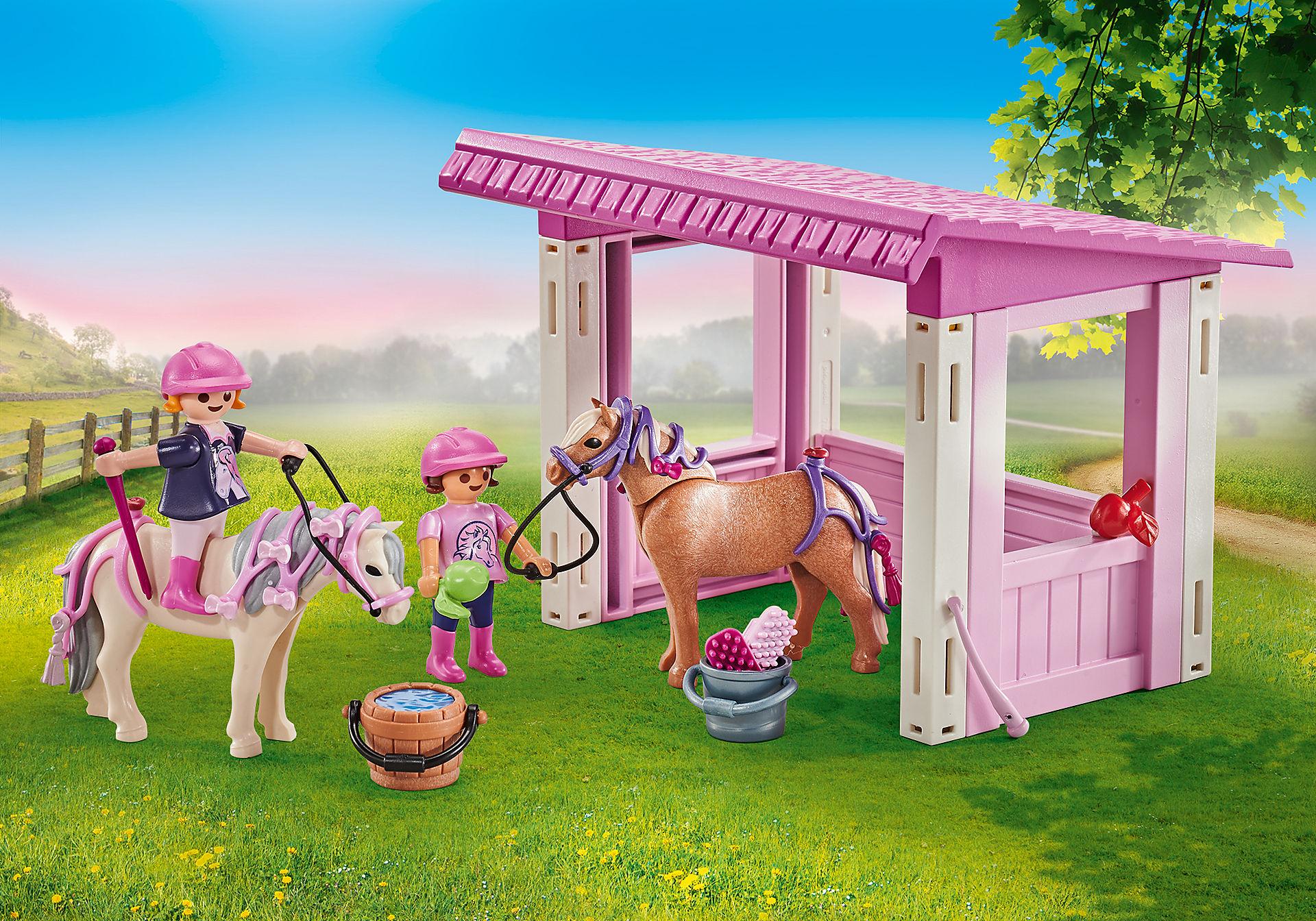 9878 Unterstand mit Ponys und Prinzessinnen zoom image1