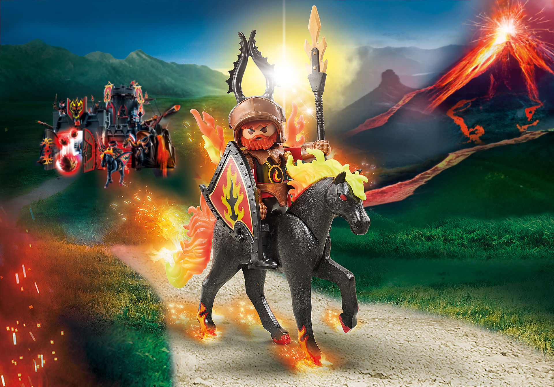 9882 fire horse with rider zoom image1