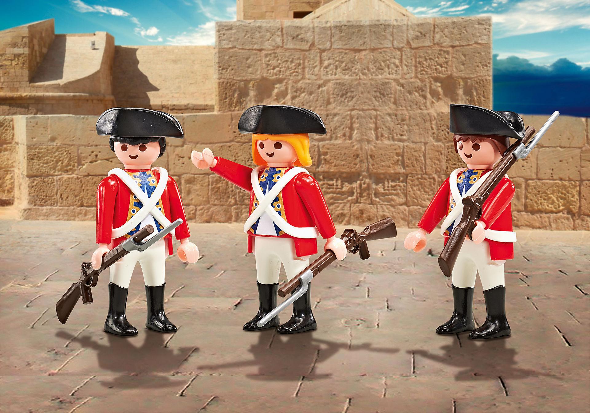 9886 Drie soldaten zoom image1