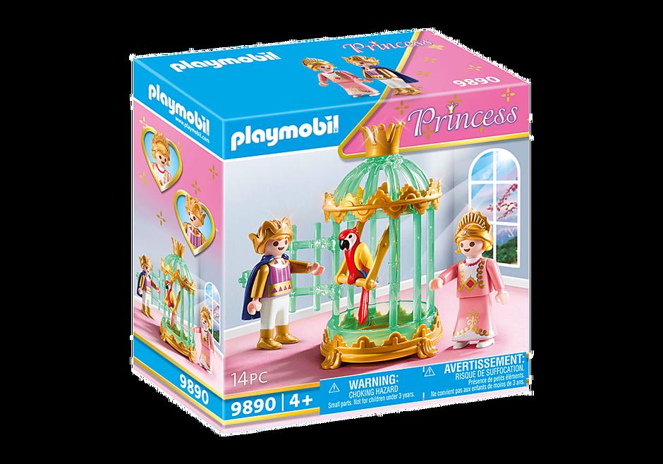 9890 Crianças reais com gaiola e papagaio detail image 2