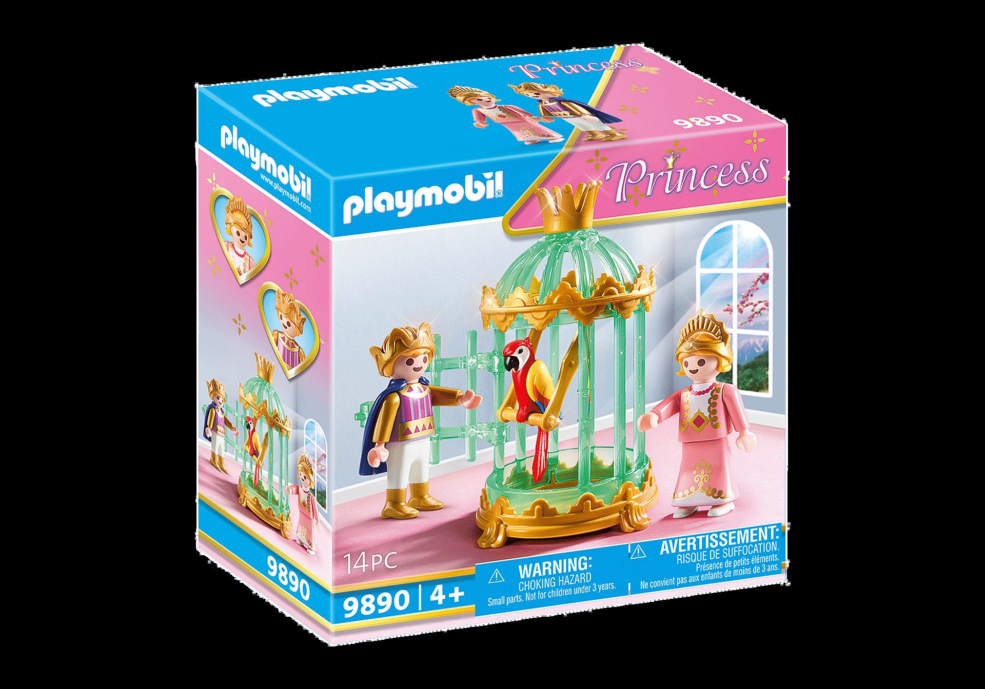 9890 Enfants royaux avec perroquet  zoom image2