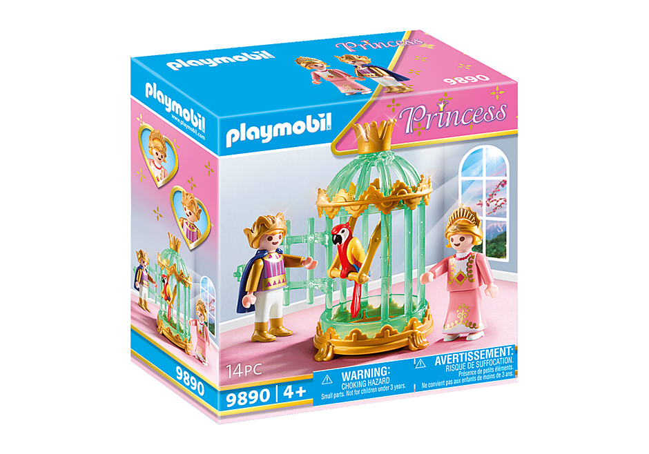 9890 Royal Children with Parrot Cage detail image 2