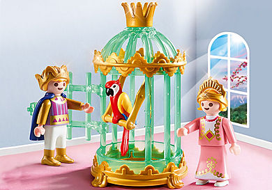 9890 Royal Children with Parrot Cage
