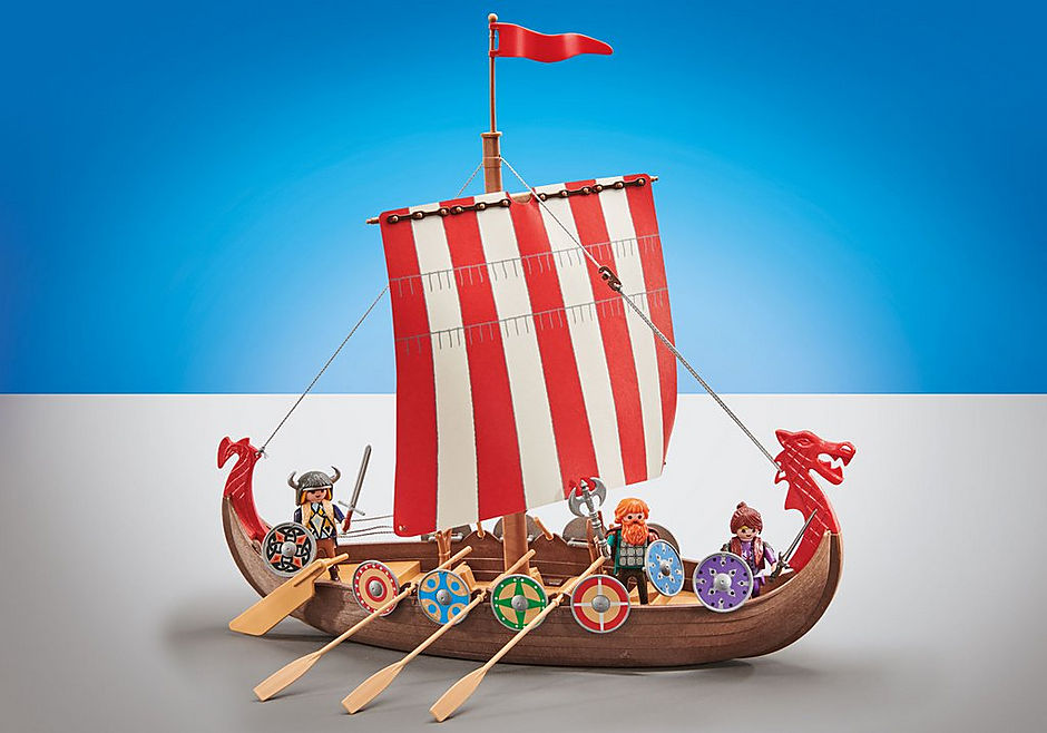 9891 Vikingschip detail image 1