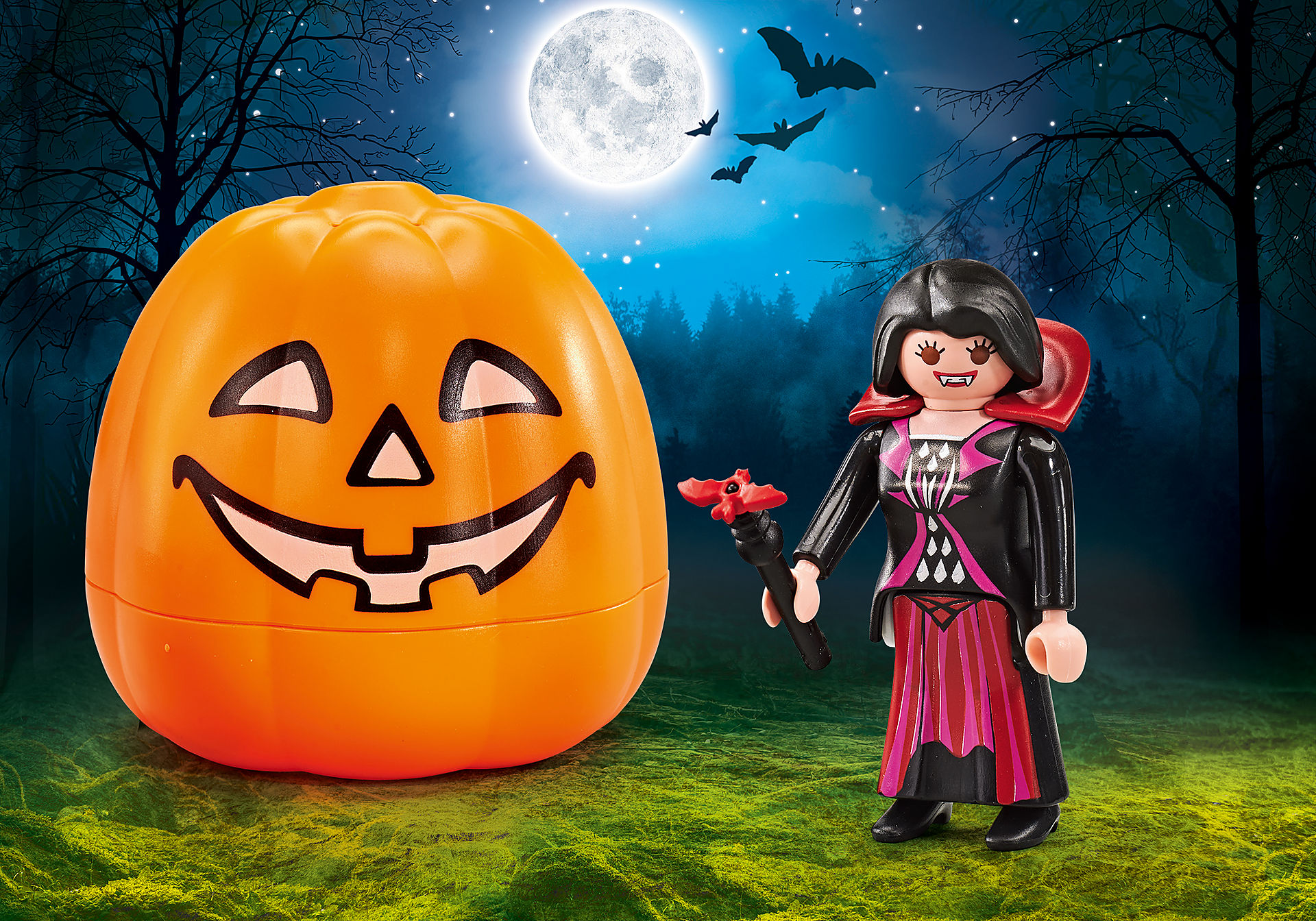 9895 Halloween Pumpkin - Vampire zoom image1