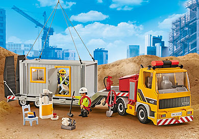 9898 Flatbed Truck with container