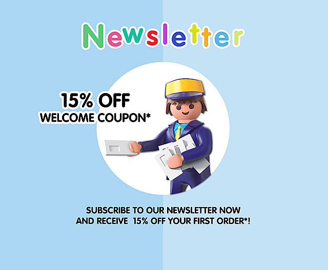 Subscribe to our Newsletter now and receive 15 % off your first order*!