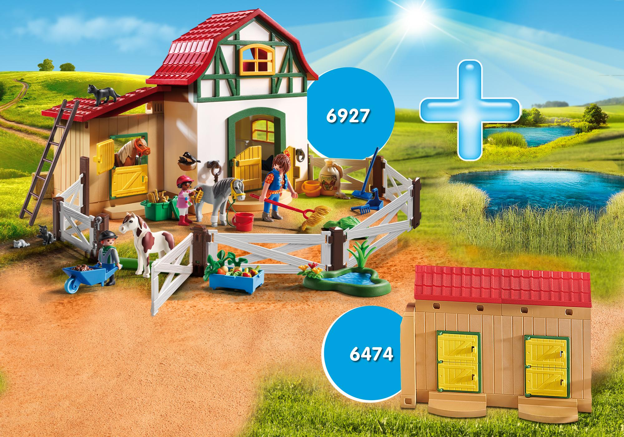 http://media.playmobil.com/i/playmobil/DE1806A_product_detail/Ponyhof Bundle