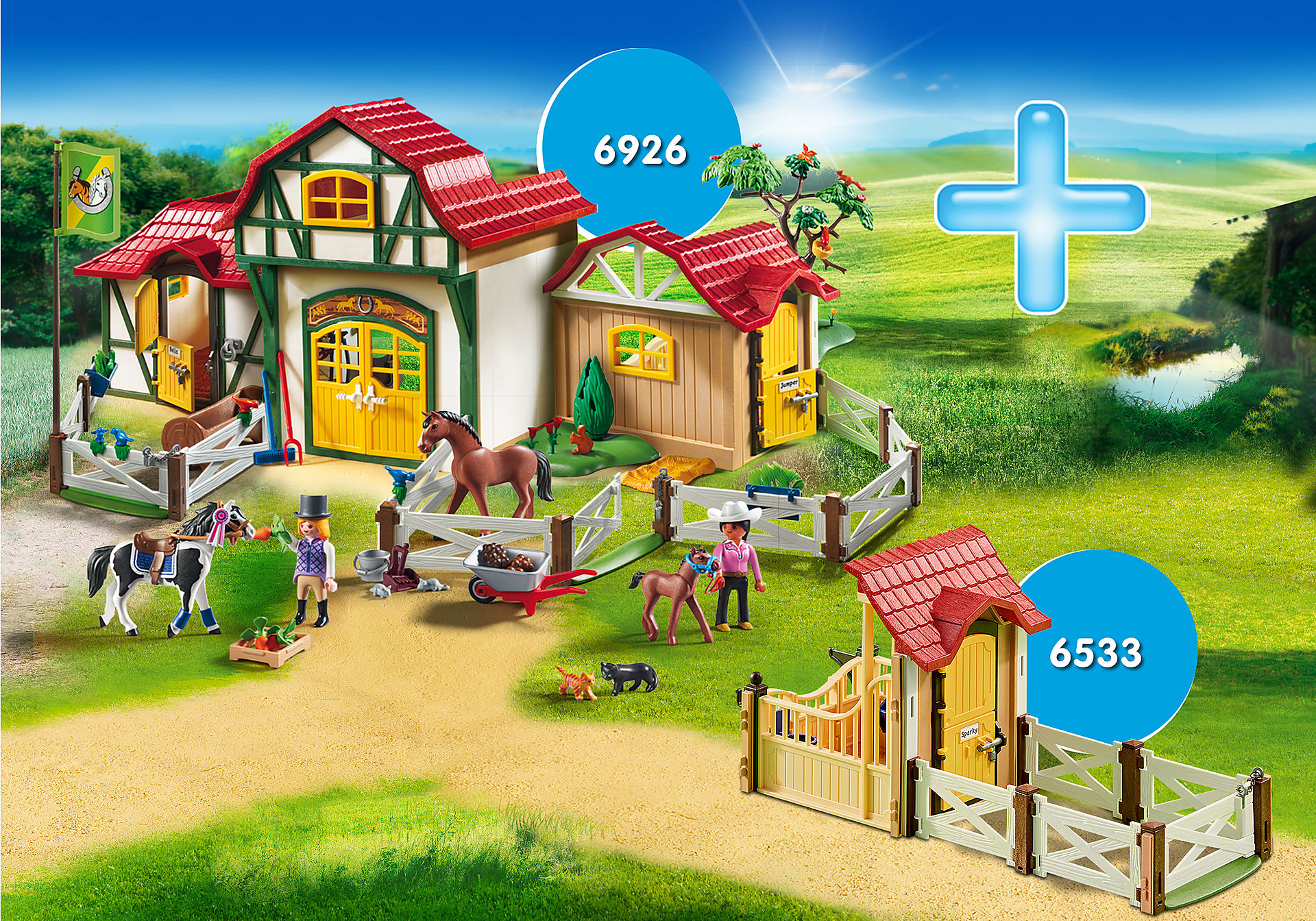 http://media.playmobil.com/i/playmobil/DE1812D_product_detail/Rabattpaket Ridanläggning