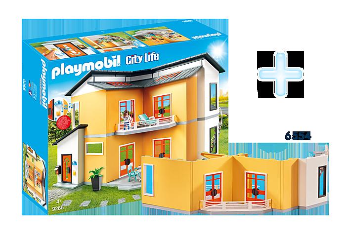http://media.playmobil.com/i/playmobil/FR1811E_product_detail/9266 Maison moderne + 6554 Etage supplémentaire pour Maison moderne