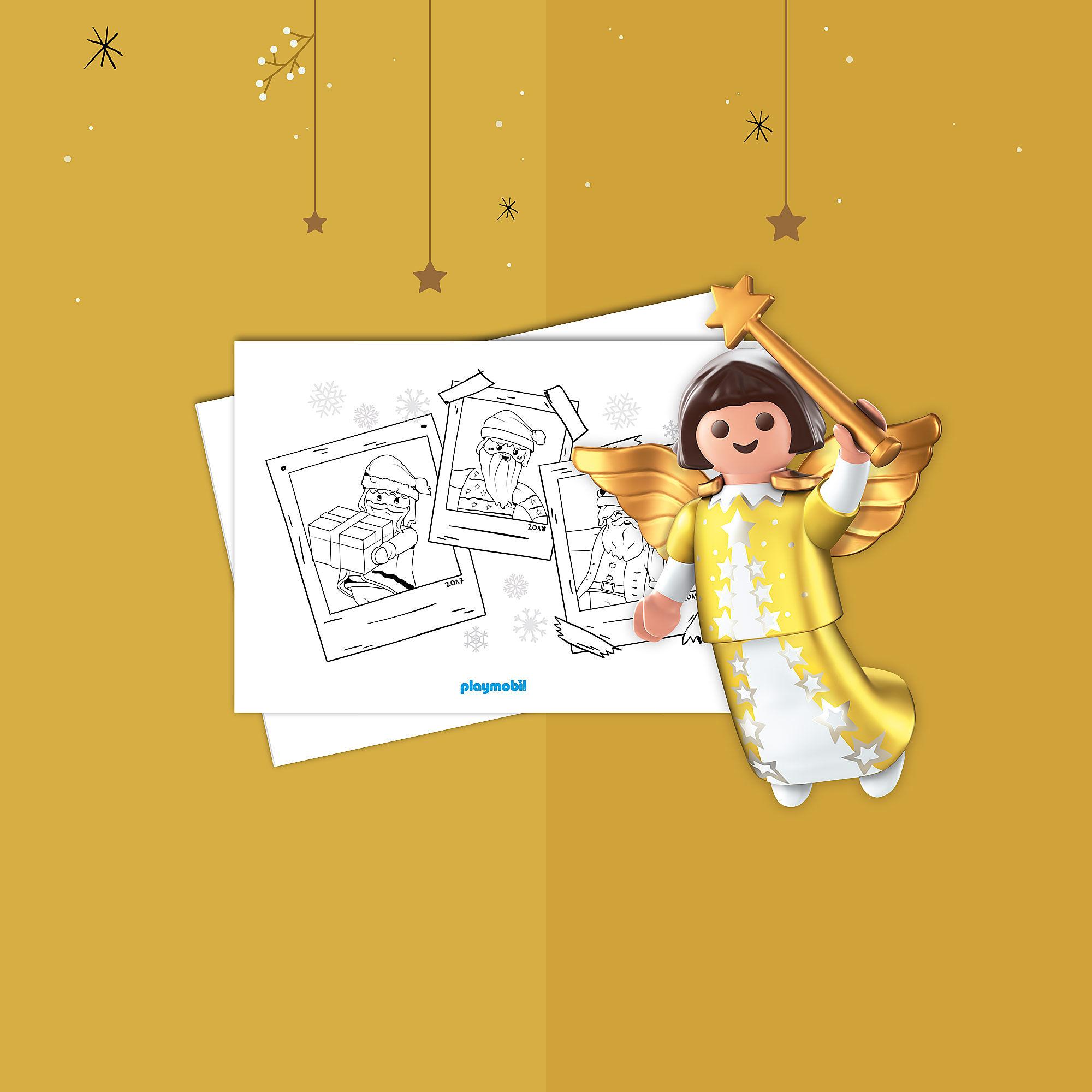 Coloring Sheet Playmobil Christmas
