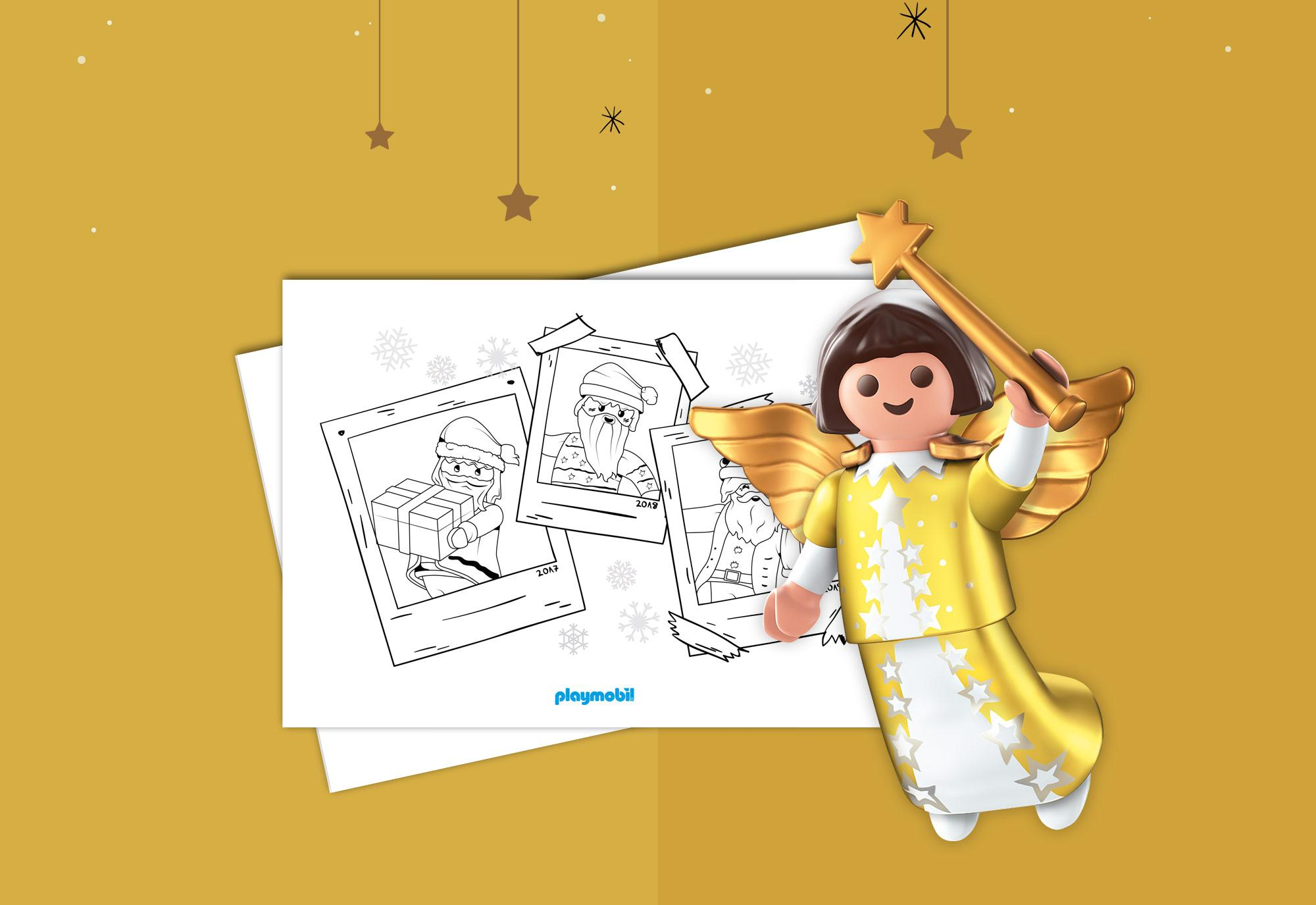 Kleurplaten Rond Kerst.Kleurplaten Playmobil Kerst Playmobil Nederland