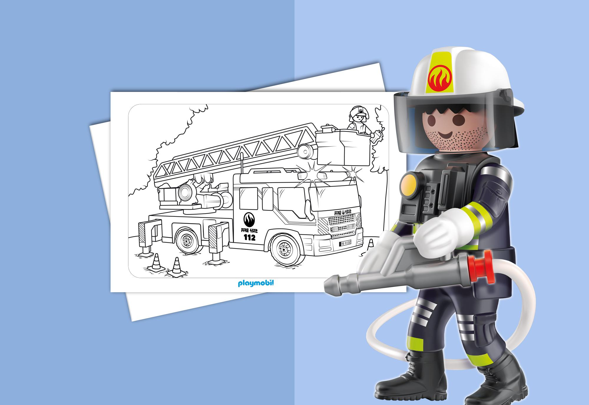 kleurplaten playmobil brandweer playmobil 174 nederland