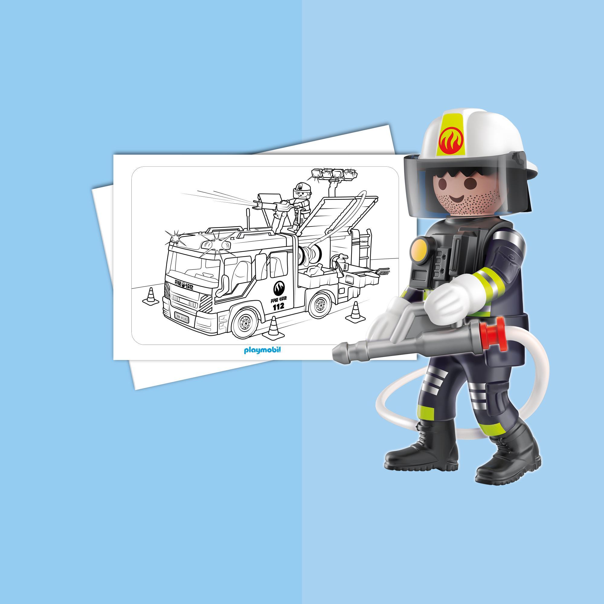 Coloriage Playmobil Les Pompiers Playmobil France