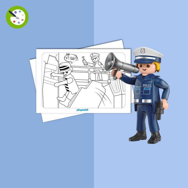 Playmobil jouets boutique officielle france playmobil - Caserne de police playmobil ...