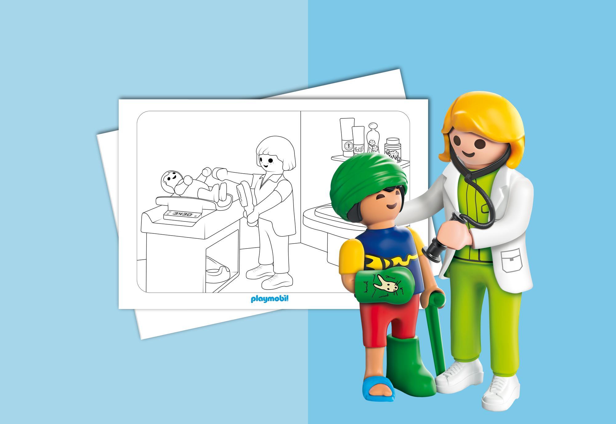 Hojas para colorear - PLAYMOBIL Hospital Infantil Playmobil® España