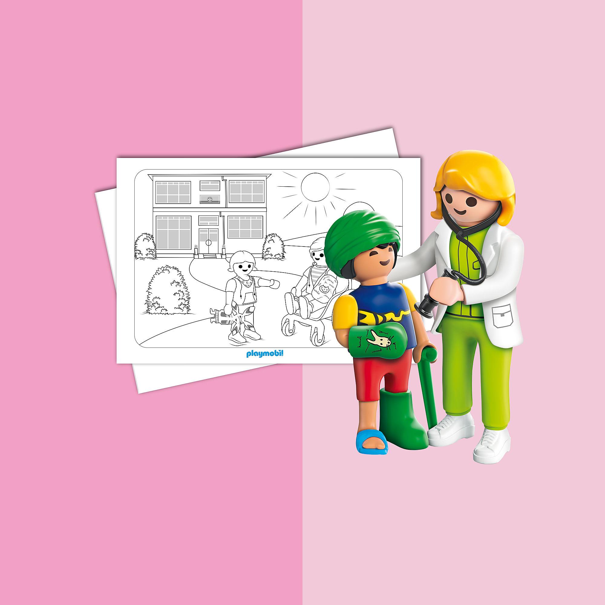 malblatt  playmobil kinderklinik