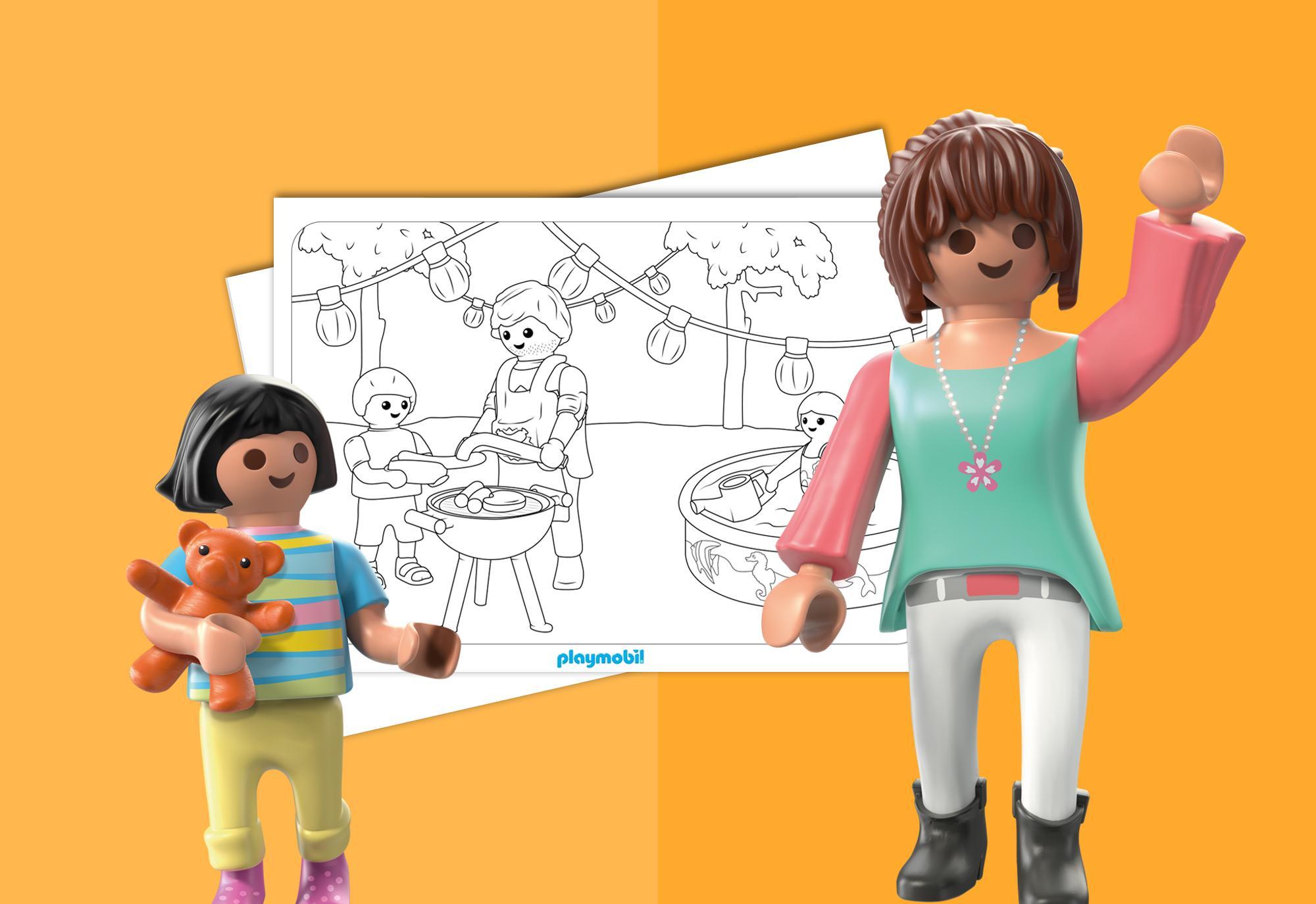 Coloriage Playmobil La Maison Moderne Playmobil France