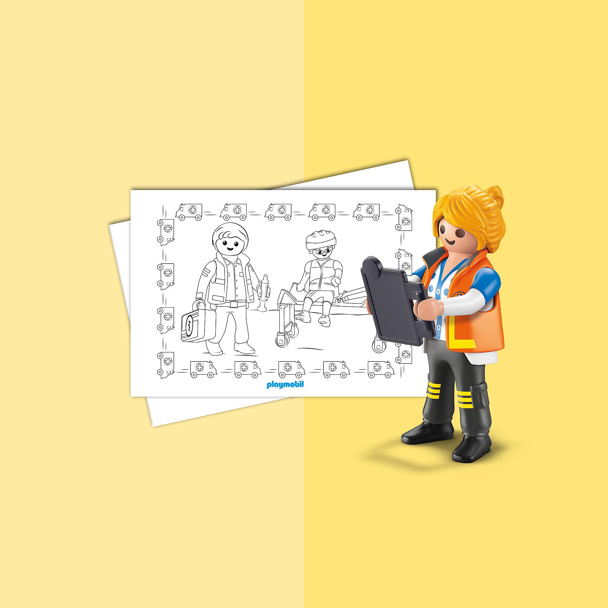 malblatt  playmobil rettung playmobil® deutschland