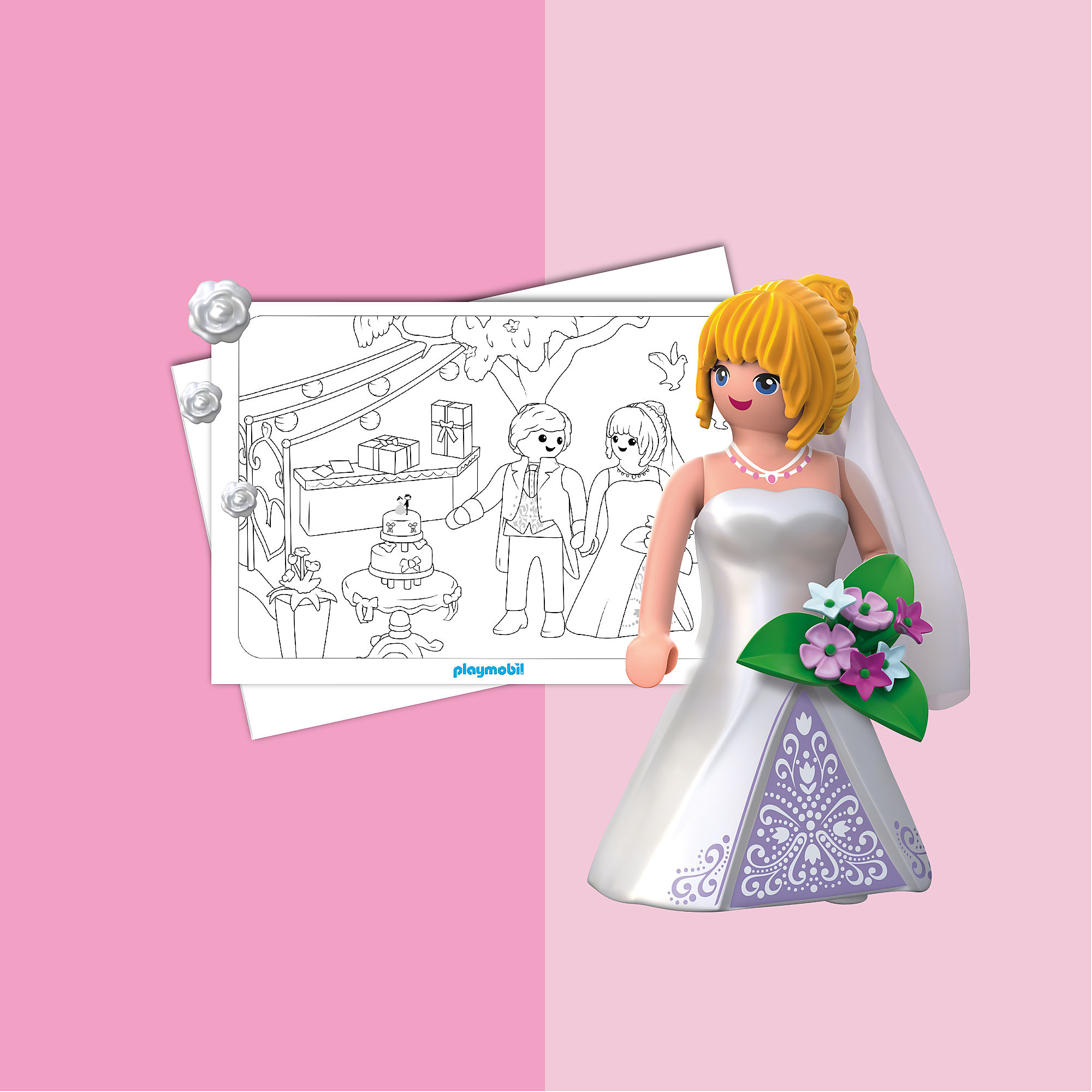 Coloriage - PLAYMOBIL Le mariage
