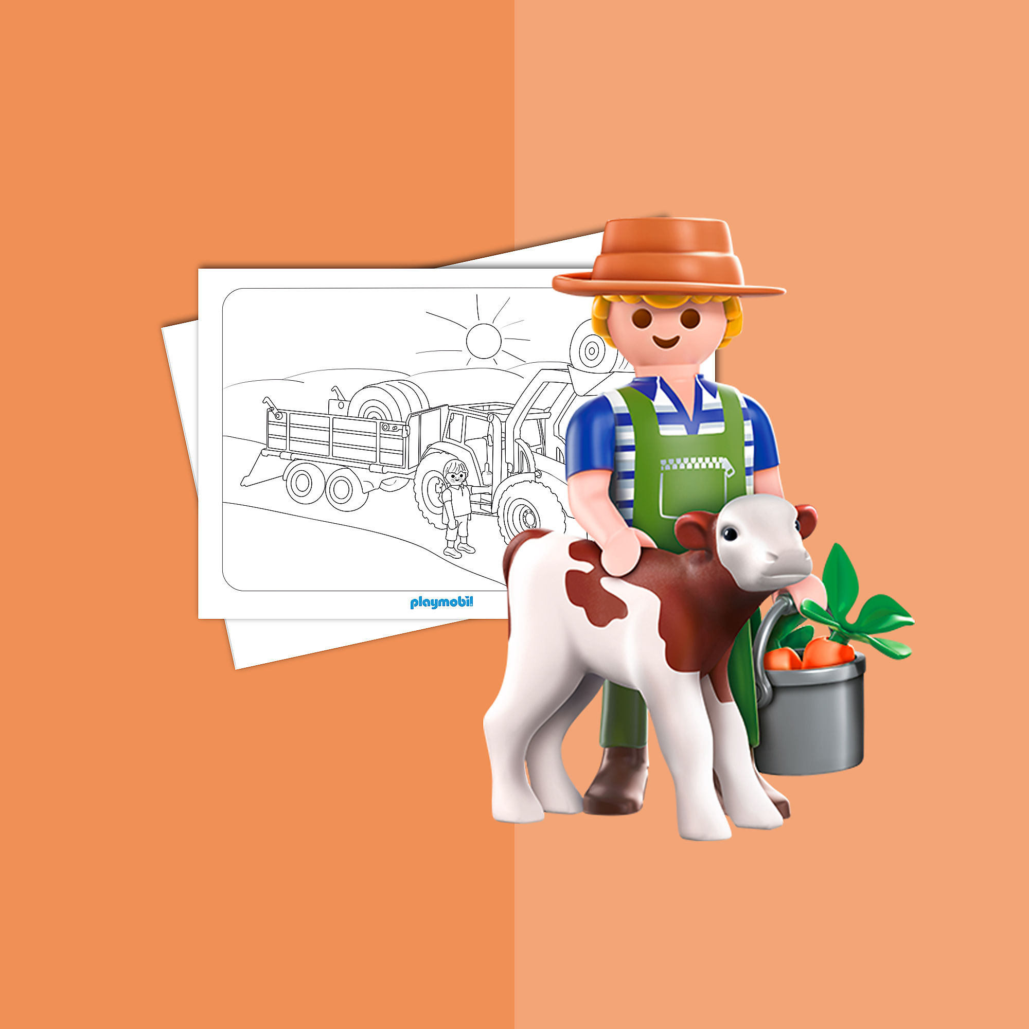 playmobil country  farm game coloring sheets