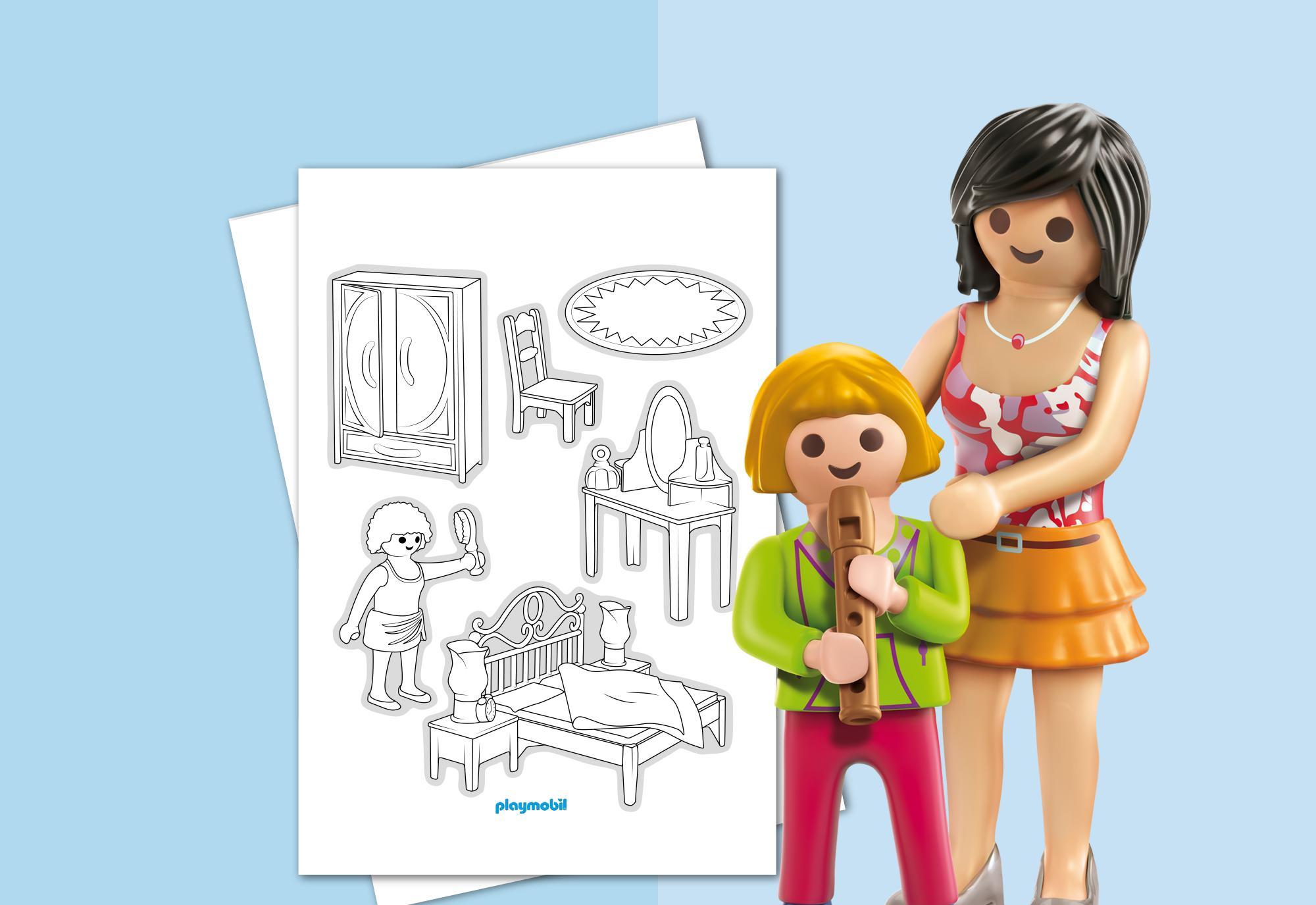 HOJAS PARA COLOREAR, PLAYMOBIL Casa de Muñecas Romántica Playmobil ...