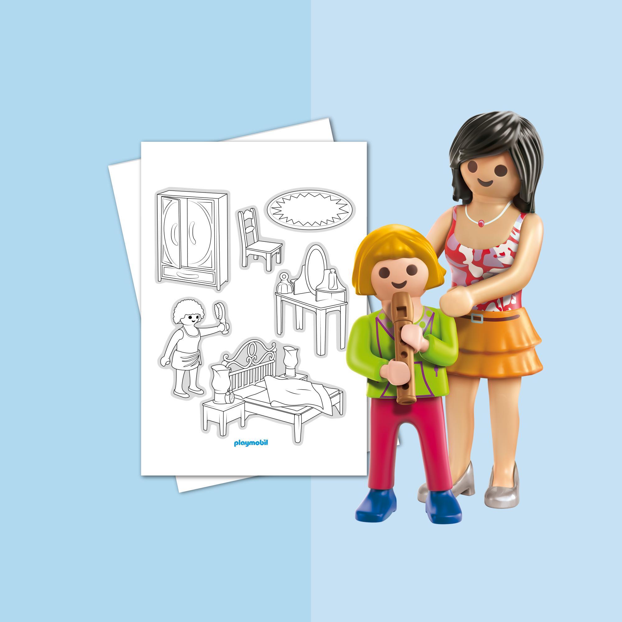 Coloriage Playmobil La Maison Traditionnelle Playmobil