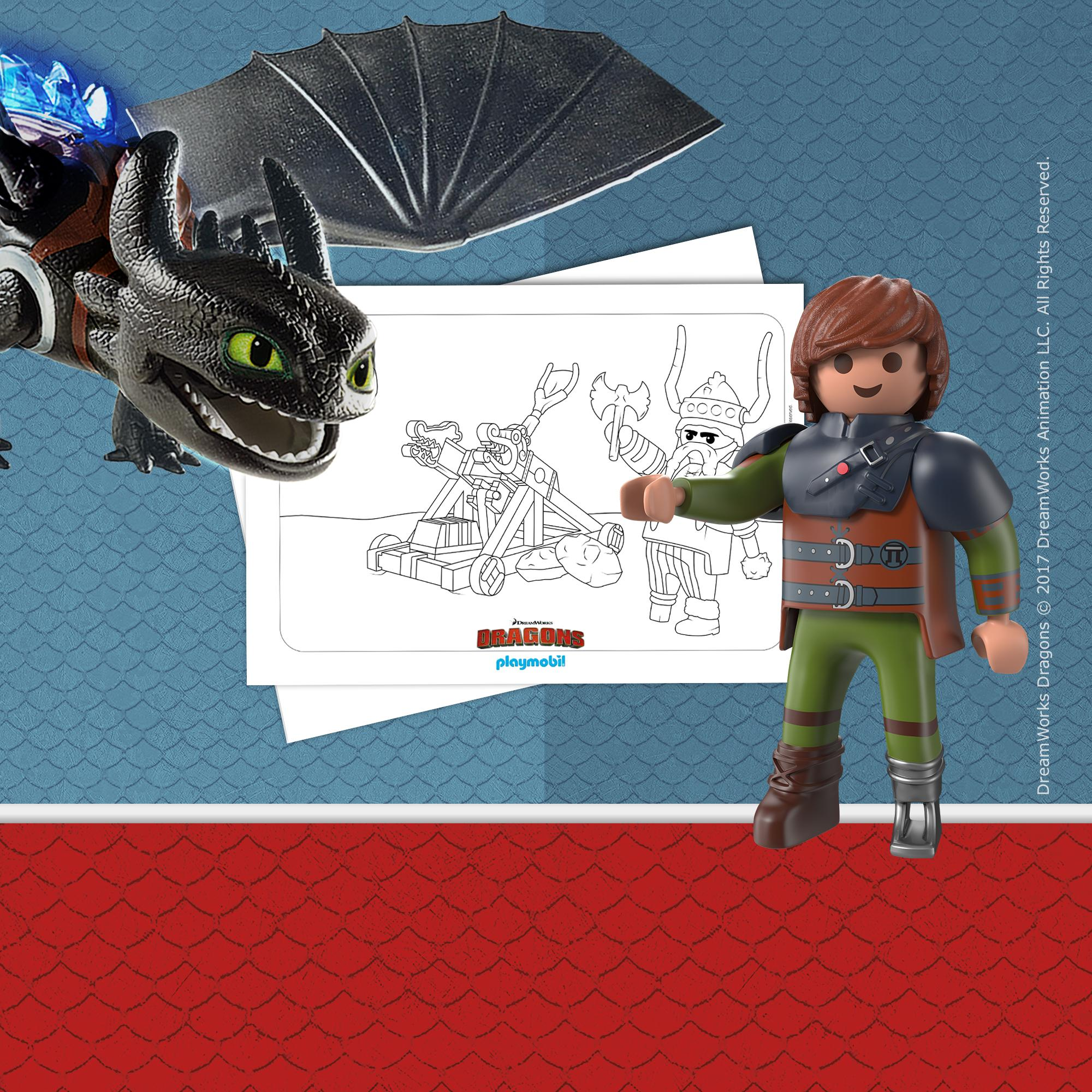 Kleurplaat Playmobil Dreamworks Dragons Playmobil Nederland