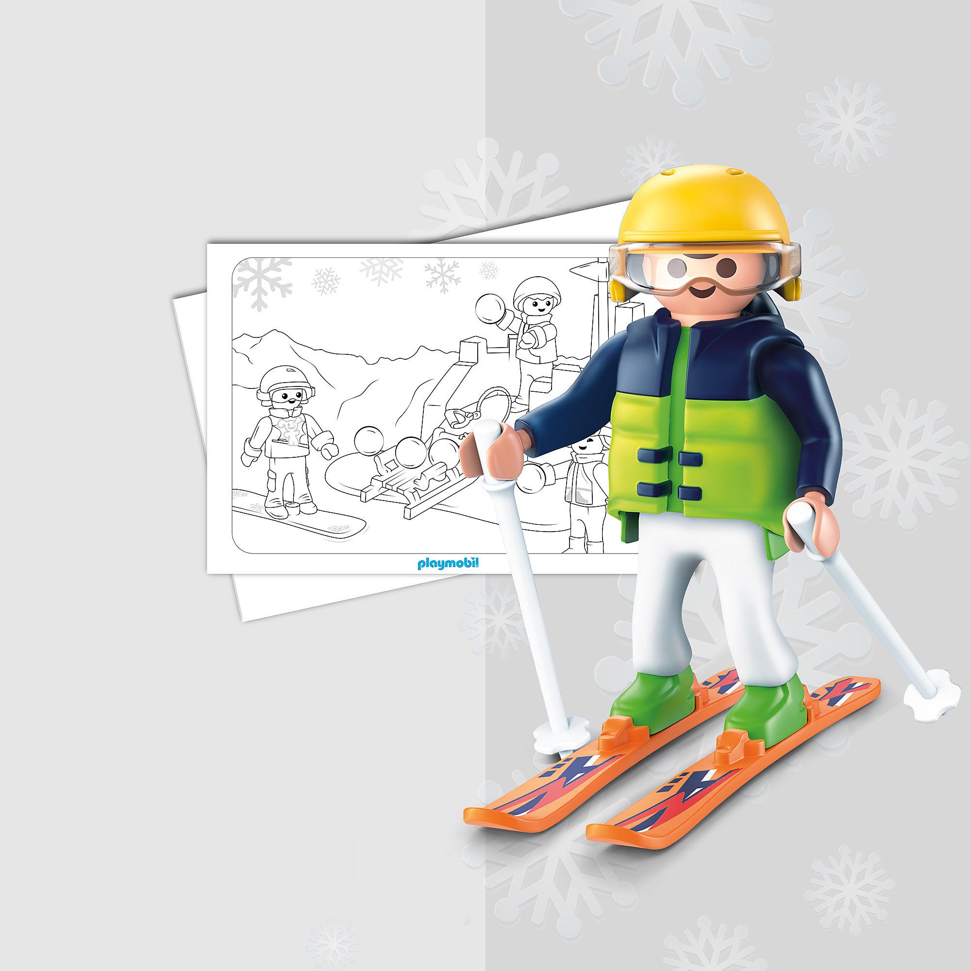 kleurplaten  playmobil wintersport