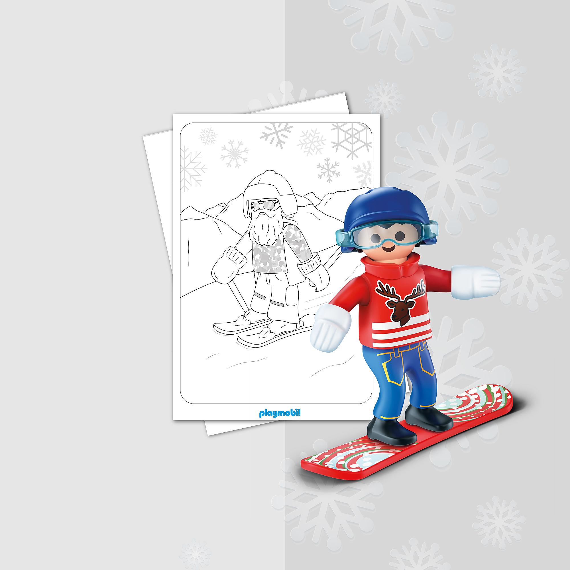 malblatt  playmobil wintersport
