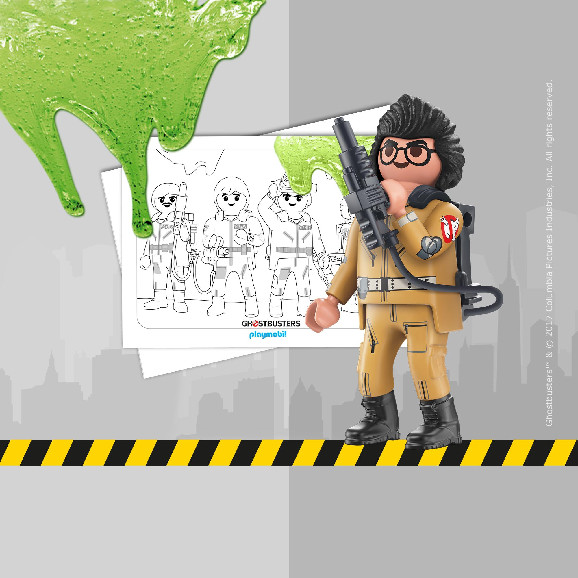 Coloriage Playmobil Ghostbusters Playmobil 174 France