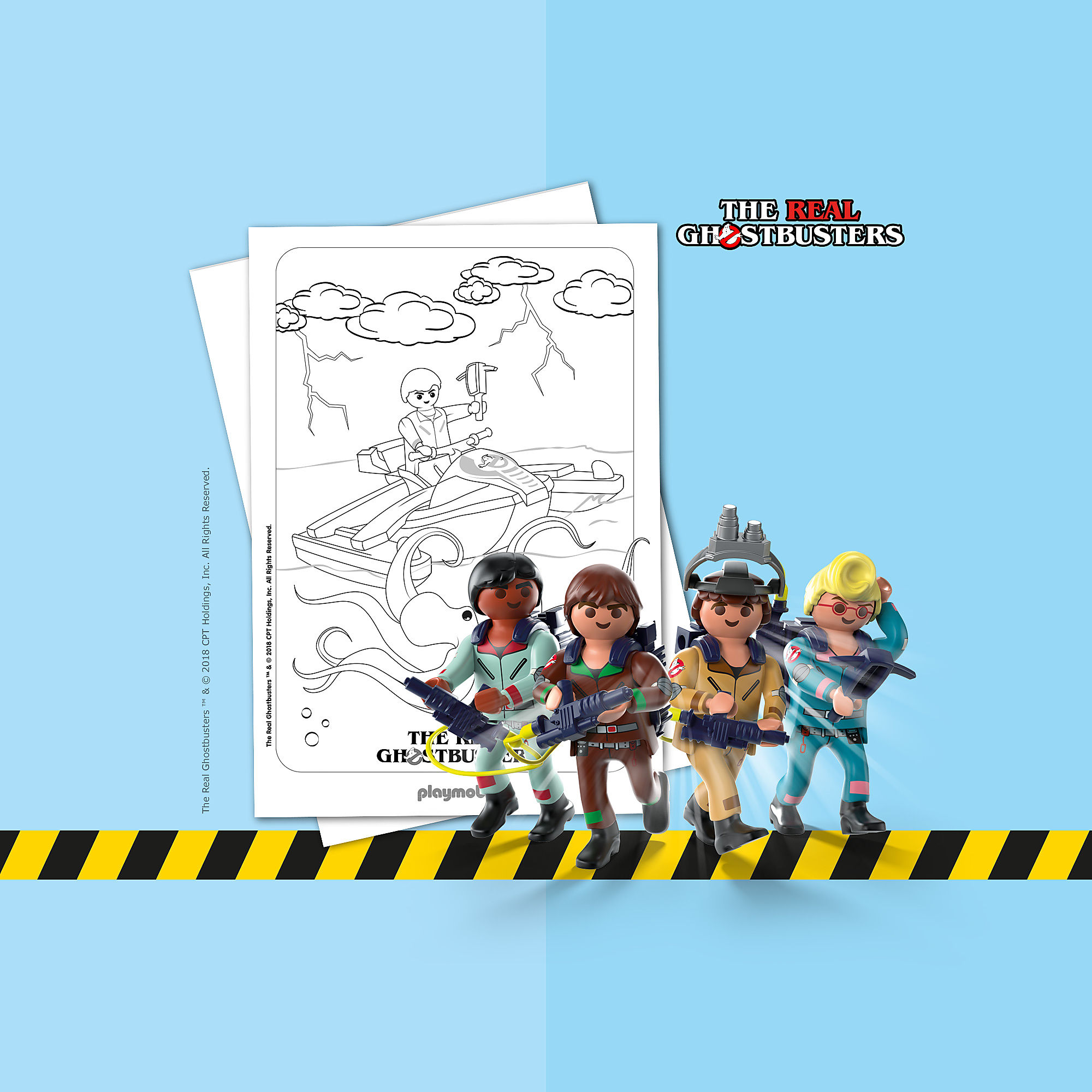 coloriage  playmobil ghostbusters