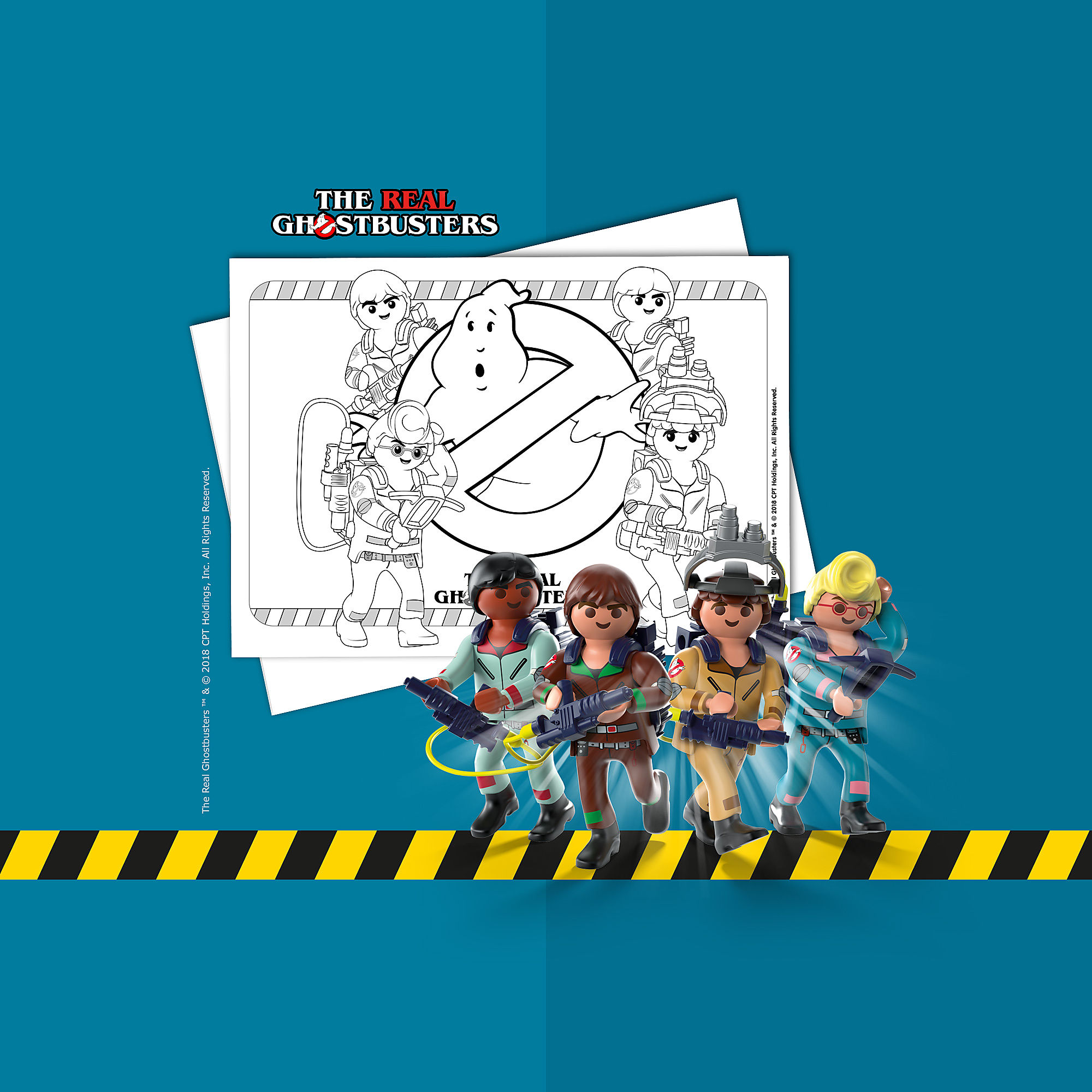 Coloring Sheet Playmobil Ghostbusters