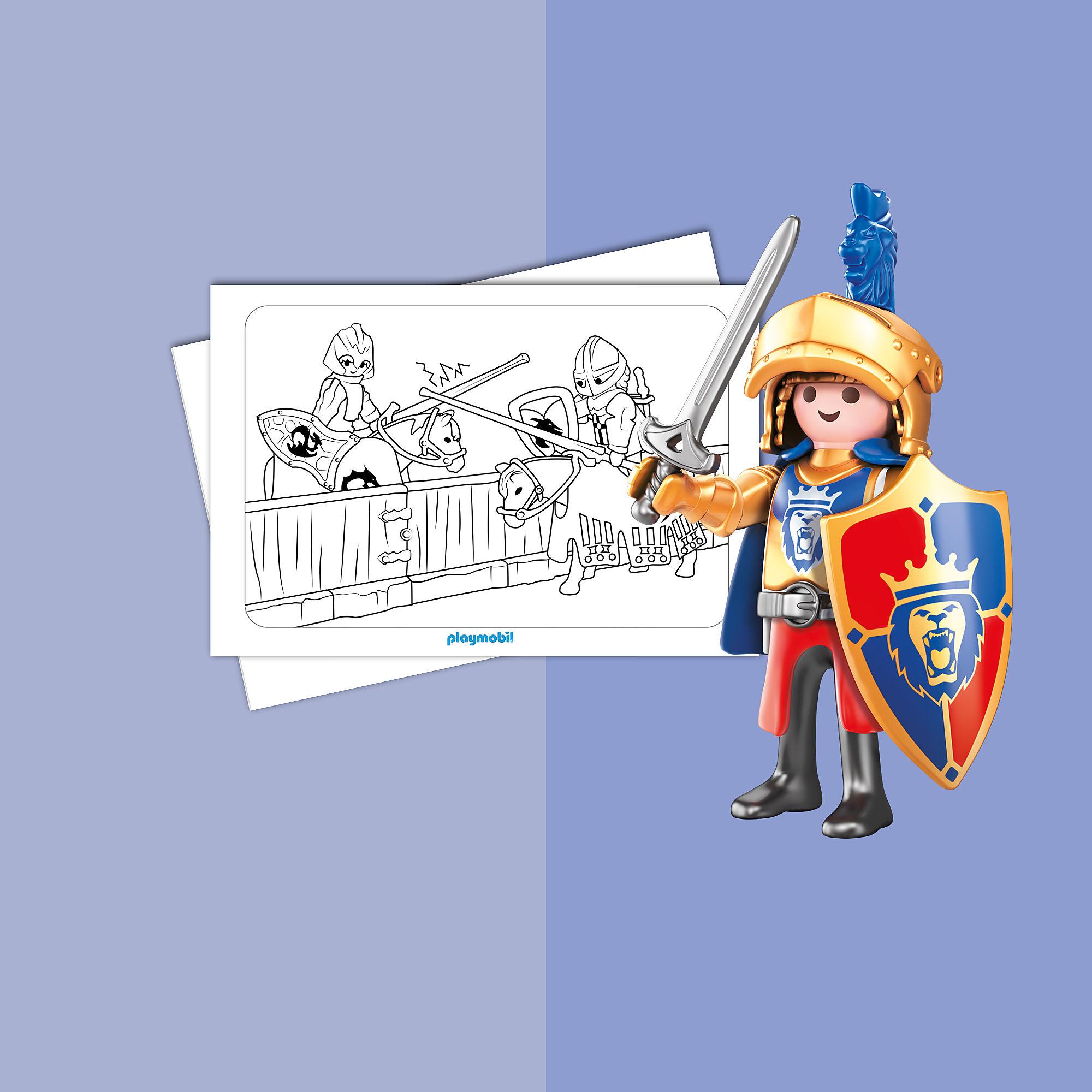 kleurplaten  playmobil knights playmobil® nederland