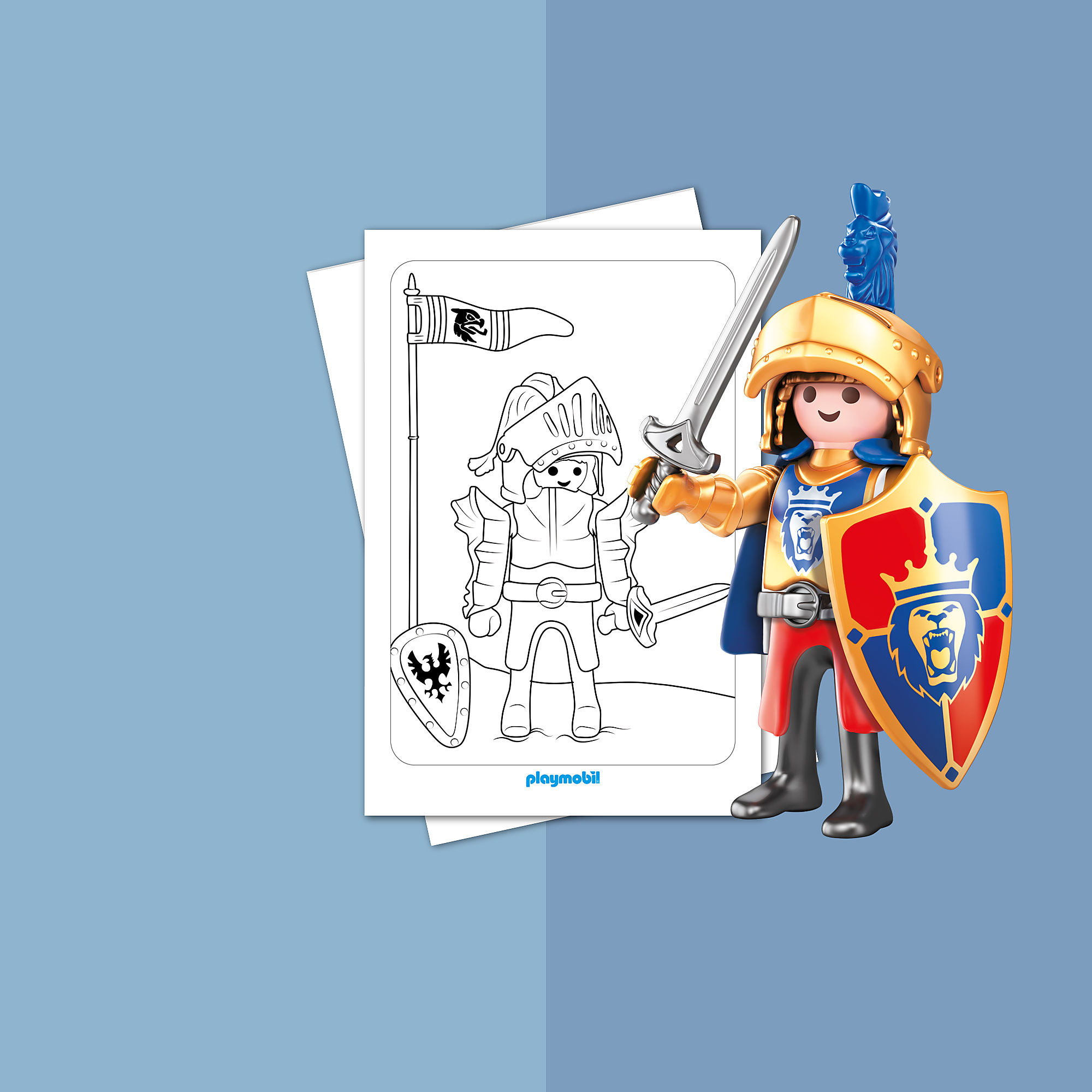 colouring sheet  playmobil knights playmobil® usa