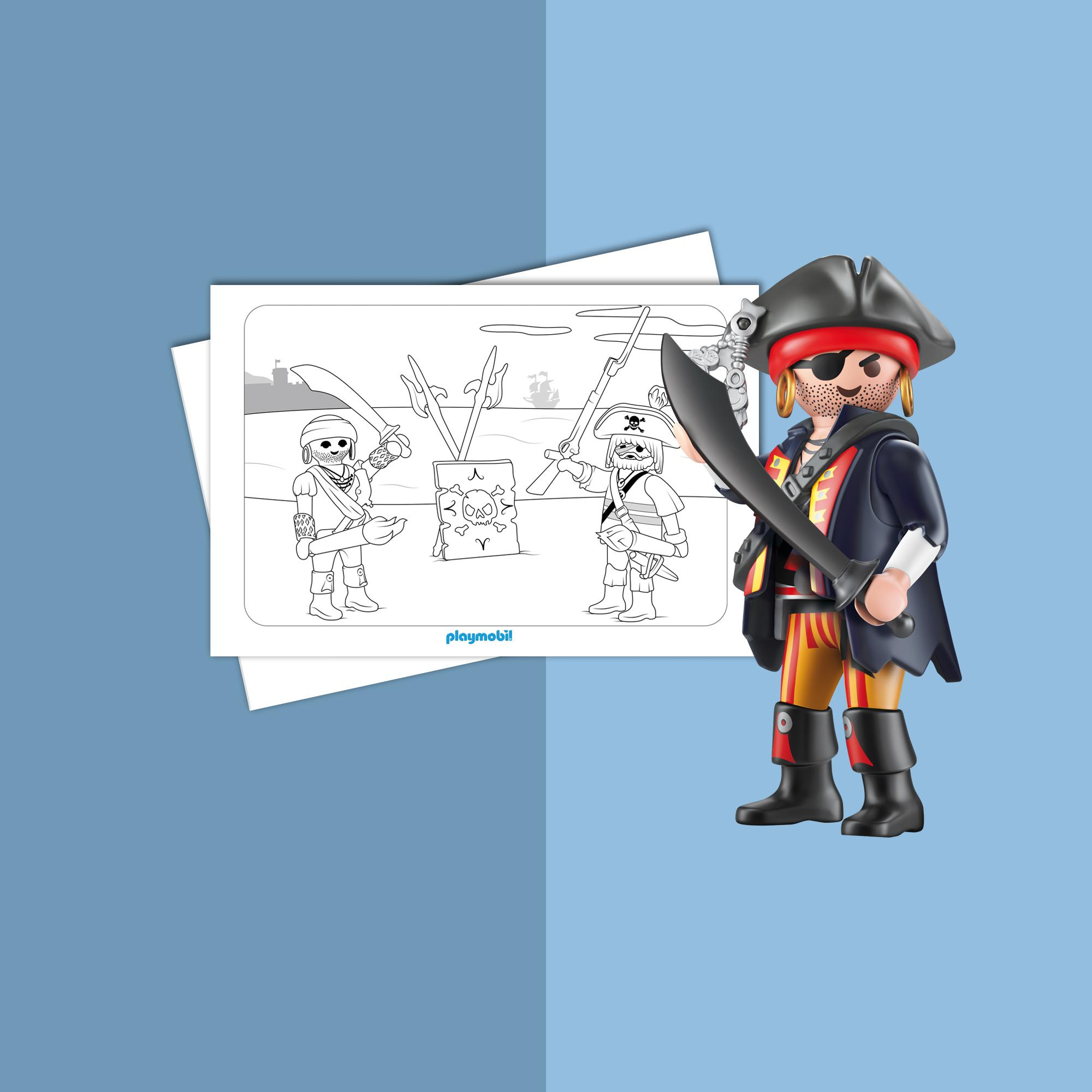Coloriage Playmobil Pirates Playmobil France