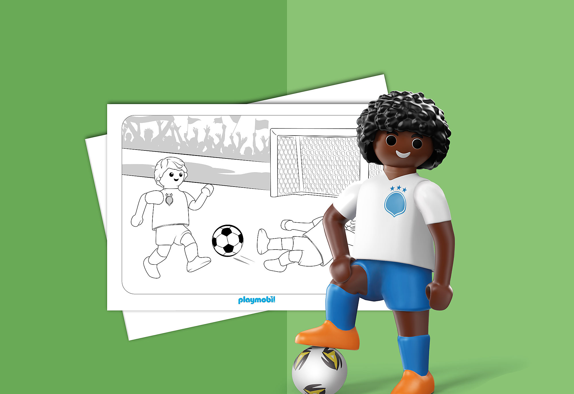 Coloriage Playmobil Foot.Colouring Sheet Playmobil Football Playmobil United Kingdom