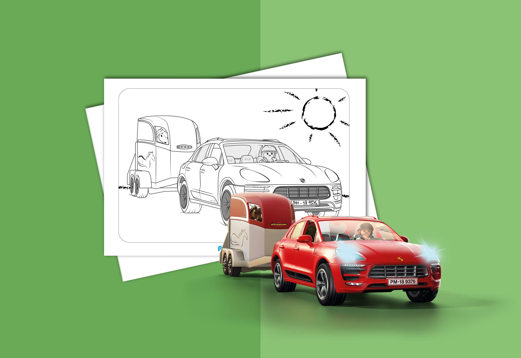 Colouring Sheet Playmobil Porsche Macan Gts Playmobil Northern