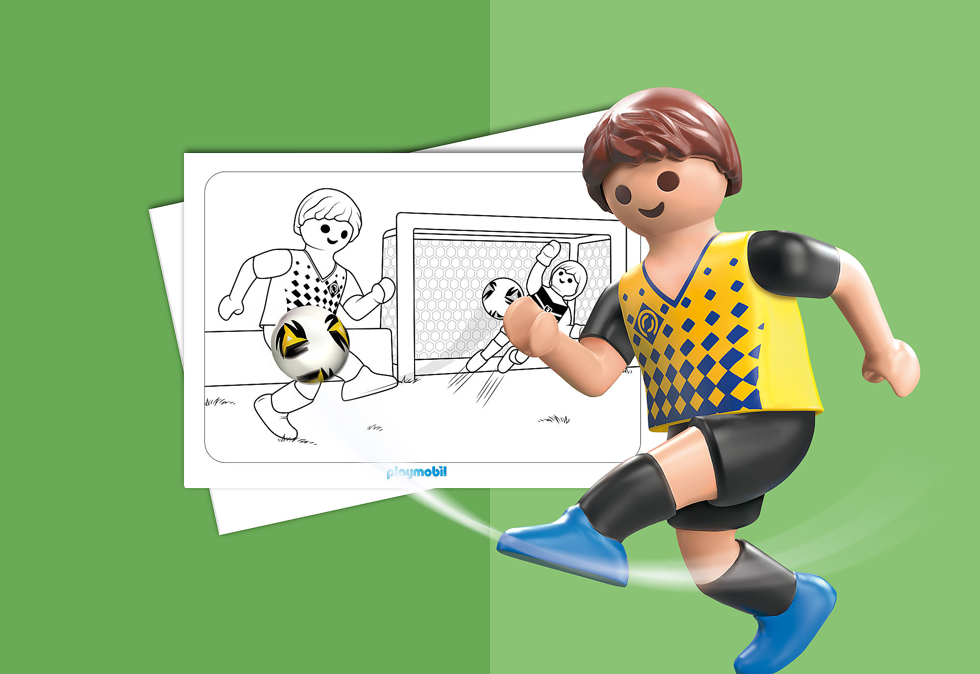 Coloriage Playmobil Foot.Coloriage Playmobil Football Playmobil France