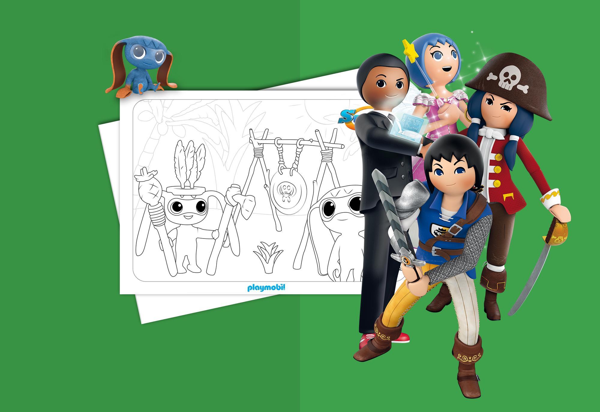 Coloring Sheet - Super 4 PLAYMOBIL® USA