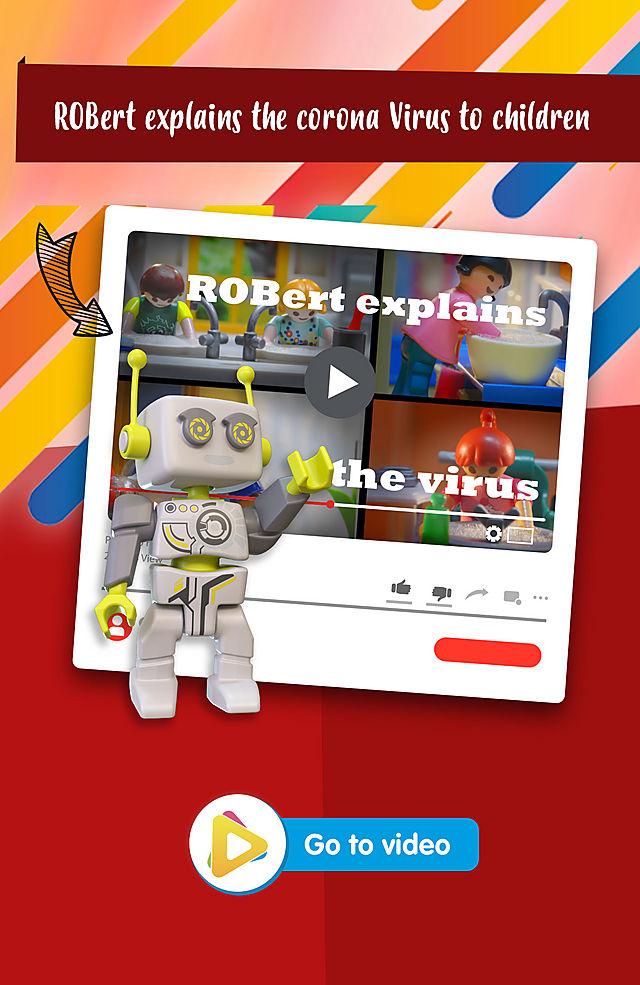 ROBert explains the corona Virus to children